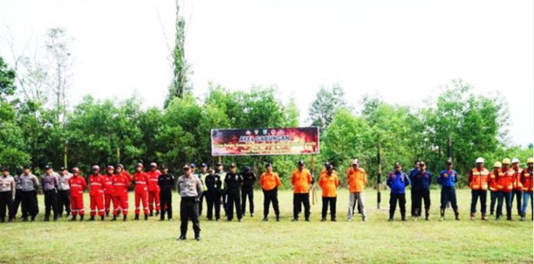 peserta apel kesiapsiagaan dalam penanggulangan bencana karhutla